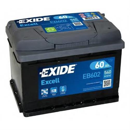 Аккумуляторная батарея 19.5/17.9 евро полярность 60Ah 540A 242/175/175 EXIDE EB602
