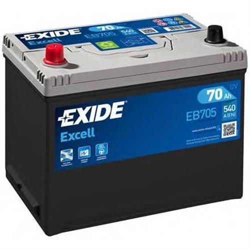 Аккумуляторная батарея 19.5/17.9 прямая полярность 70Ah 540A 270/173/222 EXIDE EB705