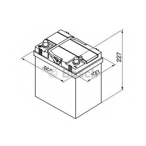 Аккумуляторная батарея 14.7/13.1 прямая полярность 40Ah 330A 187/127/227 BOSCH 0092S40190