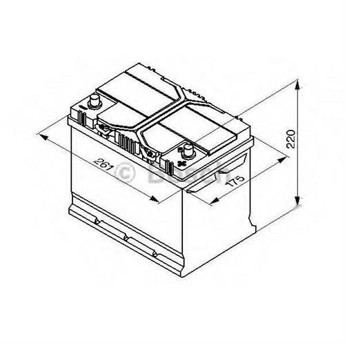 Аккумуляторная батарея 19.5/17.9 евро полярность 70Ah 630A 261/175/220 BOSCH 0092S40260