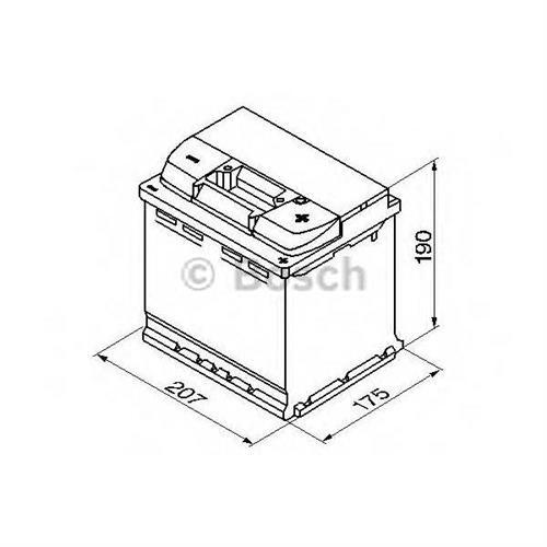 Аккумуляторная батарея 19.5/17.9 евро полярность 54Ah 530A 207/175/190 BOSCH 0092S50020