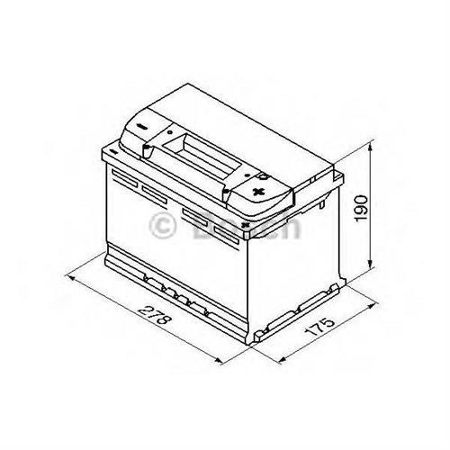 Аккумуляторная батарея 19.5/17.9 евро полярность 77Ah 780A 278/175/190 BOSCH 0092S50080
