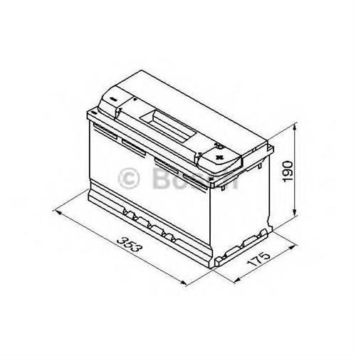 Аккумулятор S5 100Ah 830A плюс справа 353x175x190 BOSCH 0092S50130