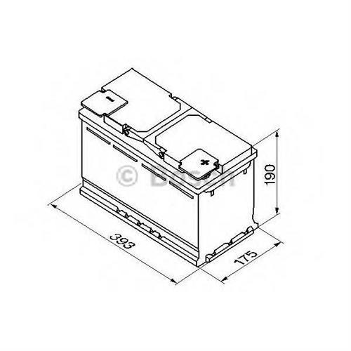 Аккумуляторная батарея 19.5/17.9 евро полярность 110Ah 920A 393/175/190 BOSCH 0092S50150