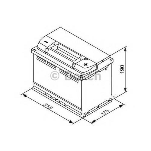 Аккумуляторная батарея EFB 19.5/17.9 евро полярность 80Ah 730A 315/175/175 BOSCH 0092S4E110