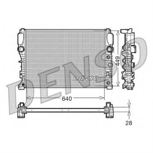 Радиатор DENSO DRM17091