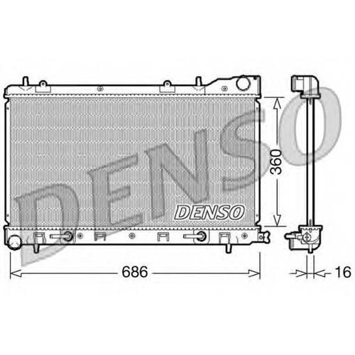 Радиатор DENSO DRM36001