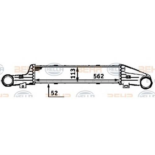 Интеркулер - легковой автомобиль HELLA 8ML376723141
