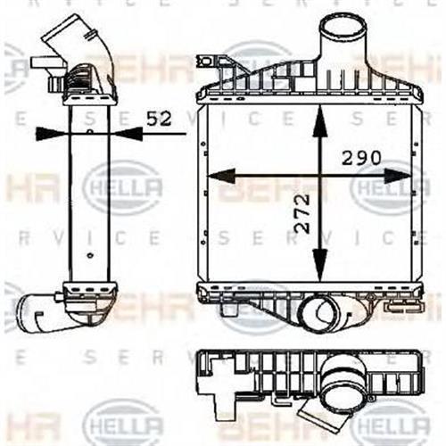 Интеркулер - легковой автомобиль HELLA 8ML376723701