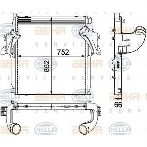 интеркулер для Mercedes-Benz actros --04.97 BEHR HELLA SERVICE 8ML376724061