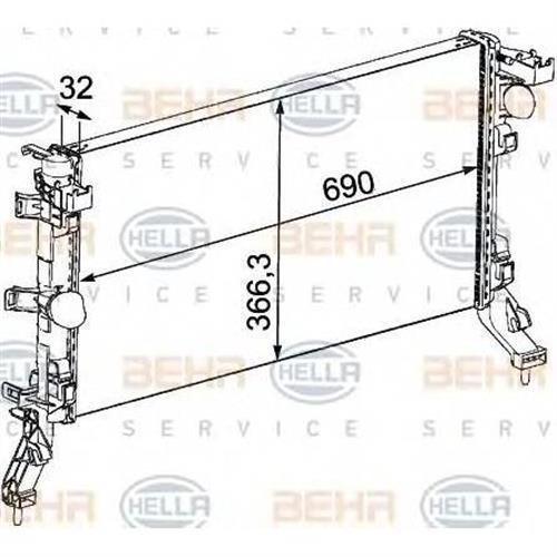 Радиатор BEHR HELLA SERVICE 8MK376745191