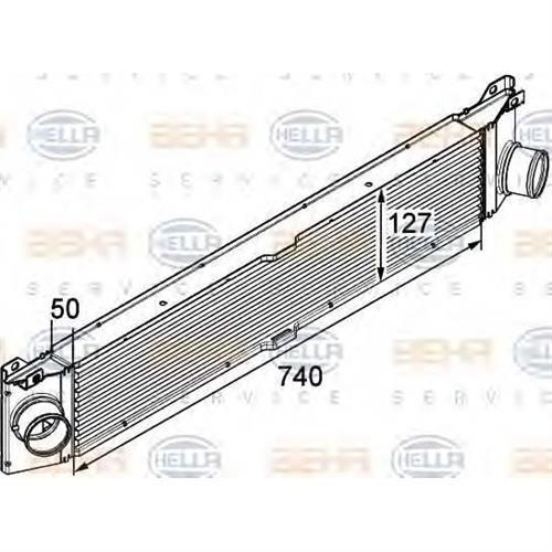 Интеркулер - легковой автомобиль HELLA 8ML376746011