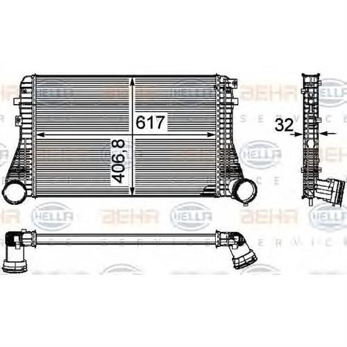 Интеркулер - легковой автомобиль HELLA 8ML376746061