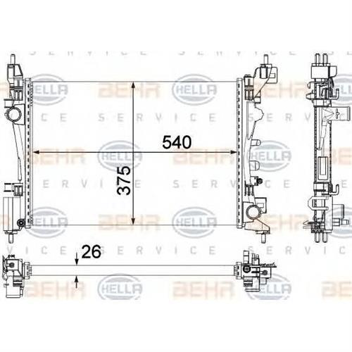 Радиатор BEHR HELLA SERVICE 8MK376756321
