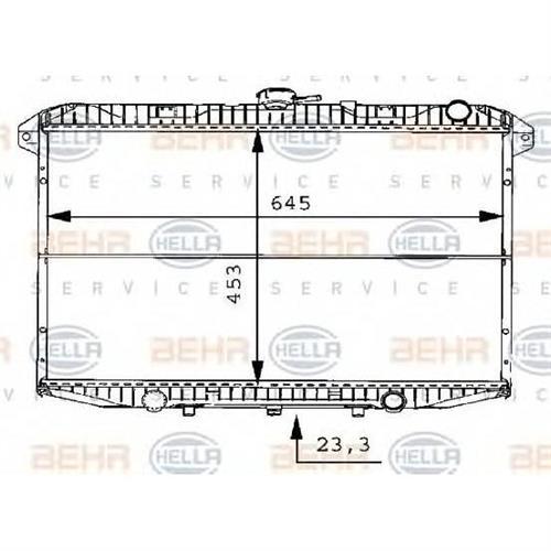 Радиатор BEHR HELLA SERVICE 8MK376706481