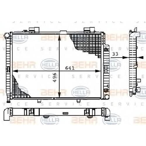 Радиатор [641х496] BEHR HELLA SERVICE 8MK376710234