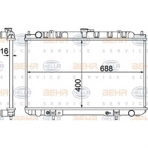 Радиатор BEHR HELLA SERVICE 8MK376770601