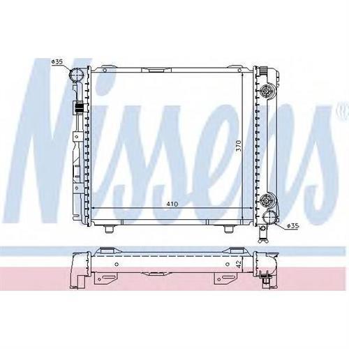 Радиатор системы охлаждения для Mercedes-Benz COUPE (C124) 230 CE (124.043)/230 CE (124.043) KAT 87-93 , KOMBI УНИВЕРСАЛ (S124) 200 TE/200 TE (124.079)/200 TE (124.081)/230 TE (124.083)/230 NISSENS 62650