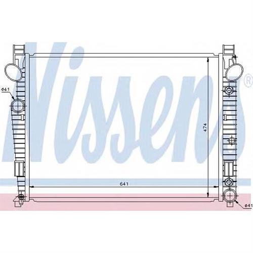Радиатор системы охлаждения для Mercedes-Benz S-CLASS (W220) S 430 (220.070, 220.170)/S 500 (220.075, 220.175, 220.875) 98-05 NISSENS 62772