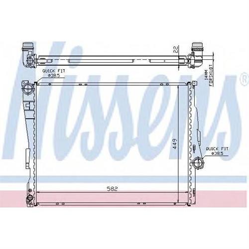 Радиатор охлаждения двигателя NISSENS 60784A