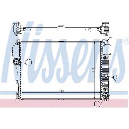 Радиатор MERCEDES S250-S600 W221 NISSENS 67107A