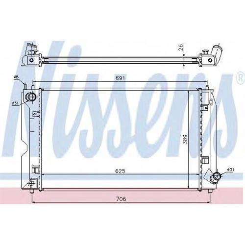 Радиатор охлаждения двигателя NISSENS 64679A