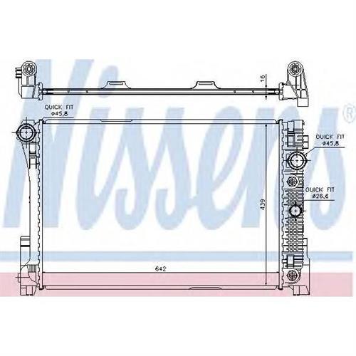 Радиатор системы охлаждения АКПП для Mercedes-Benz W204/S204 2.5-3.5/2.2CDi 07 NISSENS 67161