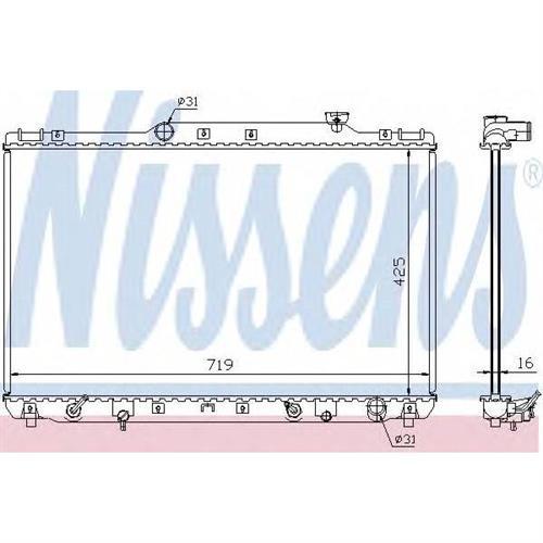 Радиатор охлаждения двигателя NISSENS 647681