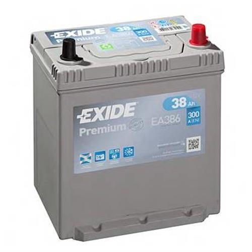 Аккумуляторная батарея 14.7/13.1 евро полярность 38Ah 300A 187/127/220 EXIDE EA386