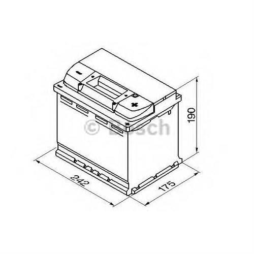 Аккумуляторная батарея 19.5/17.9 евро полярность 60Ah 540A 242/175/190 BOSCH 0092S40050