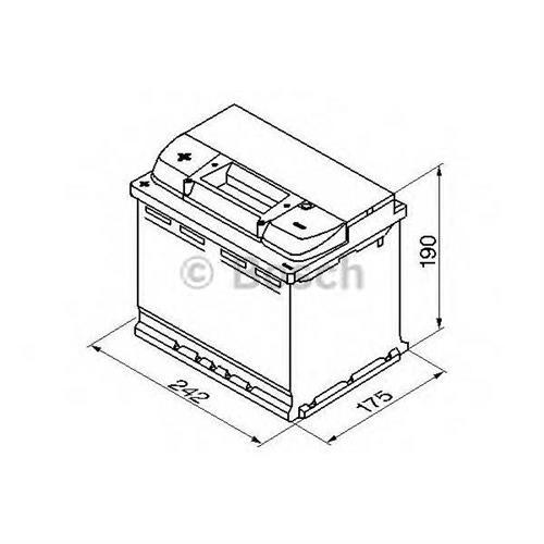 Аккумуляторная батарея 19.5/17.9 прямая полярность 60Ah 540A 242/175/190 BOSCH 0092S40060