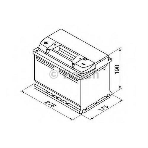 Аккумуляторная батарея 19.5/17.9 прямая полярность 74Ah 680A 278/175/190 BOSCH 0092S40090