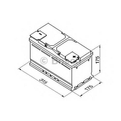 Аккумуляторная батарея 19.5/17.9 евро полярность 80Ah 740A 315/175/175 BOSCH 0092S40100