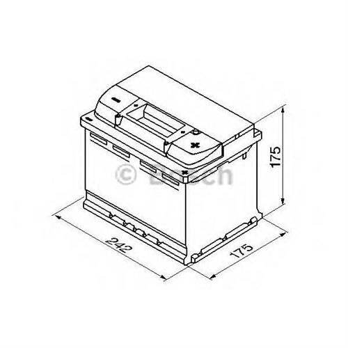 Аккумуляторная батарея 19.5/17.9 евро полярность 61Ah 600A 242/175/175 BOSCH 0092S50040