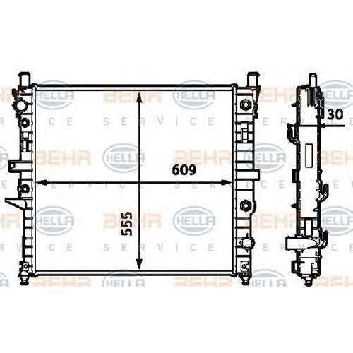 Радиатор [609x555] BEHR HELLA SERVICE 8MK376718571