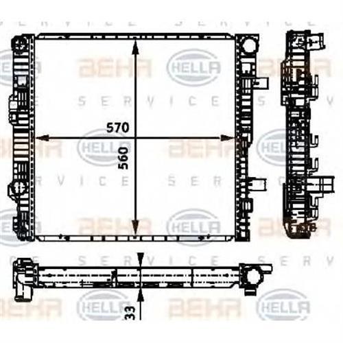 Радиатор [570x560] BEHR HELLA SERVICE 8MK376721131