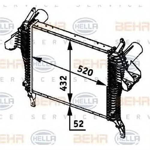 интеркулерiveco eurocargo tector BEHR HELLA SERVICE 8ML376724231
