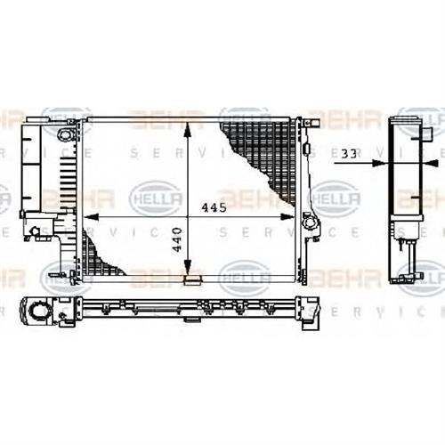 Радиатор BEHR HELLA SERVICE 8MK376711081