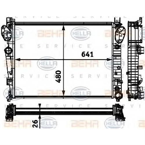 Радиатор [641x480] BEHR HELLA SERVICE 8MK376712591