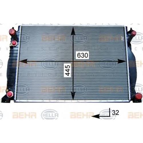 Радиатор [630x445] BEHR HELLA SERVICE 8MK376715341