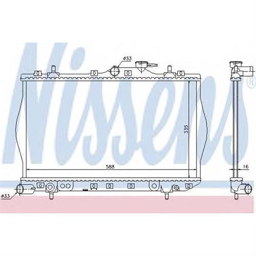 Радиатор охлаждения двигателя NISSENS 622971
