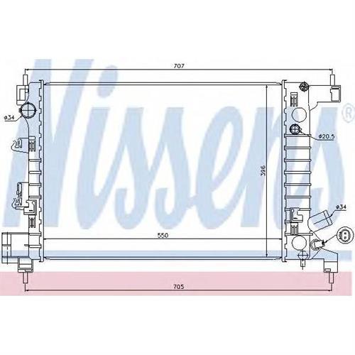 Радиатор системы охлаждения МКПП Chevrolet Aveo 1.2 11 NISSENS 61678