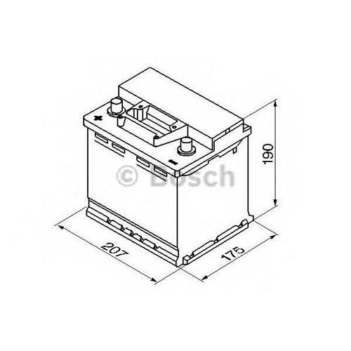 Аккумуляторная батарея 19.5/17.9 прямая полярность 45Ah 400A 207/175/190 BOSCH 0092S30030
