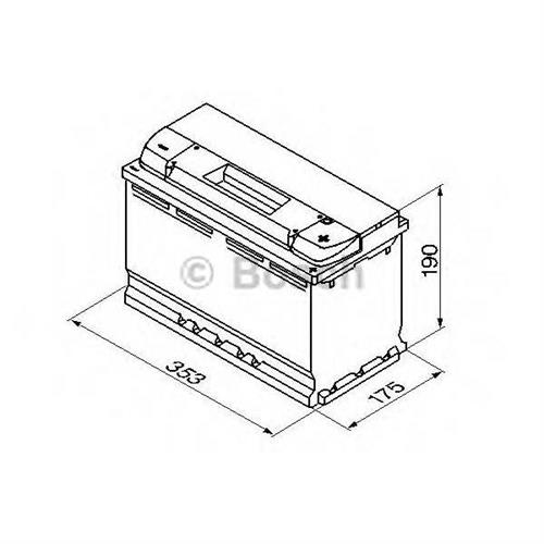 Аккумуляторная батарея 19.5/17.9 евро полярность 95Ah 800A 353/175/190 BOSCH 0092S40130