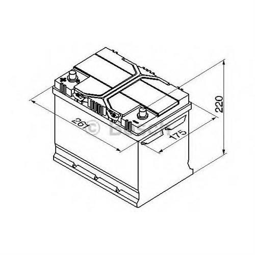 Аккумуляторная батарея 19.5/17.9 прямая полярность 70Ah 630A 261/175/220 BOSCH 0092S40270