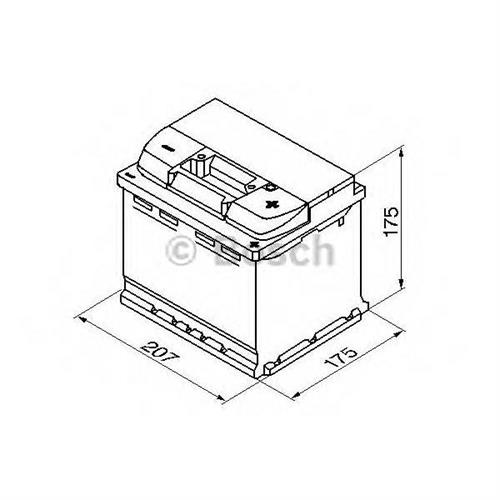 Аккумуляторная батарея 19.5/17.9 евро полярность 52Ah 520A 207/175/175 BOSCH 0092S50010