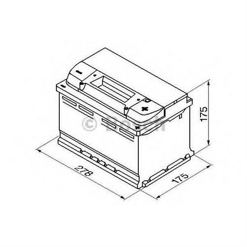 Аккумуляторная батарея 19.5/17.9 евро полярность 74Ah 750A 278/175/175 BOSCH 0092S50070