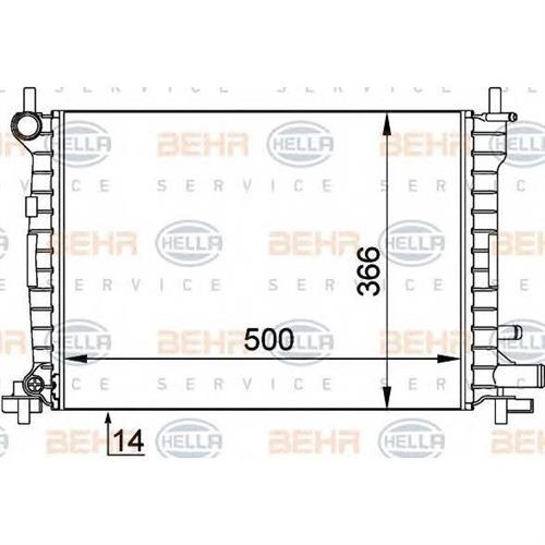 Радиатор BEHR HELLA SERVICE 8MK376715621