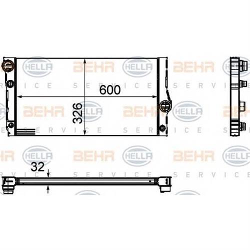 Радиатор [600x326] BEHR HELLA SERVICE 8MK376755381