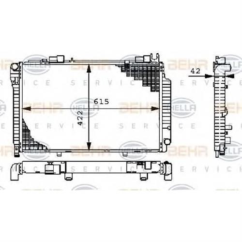 Радиатор BEHR HELLA SERVICE 8MK376711201